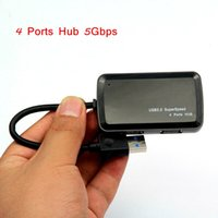 Wholesale Tablets Sale Prices - Hot Sale 5Gbps 4 Ports USB Hub USB 3.0 Hub Connector Spliter for Computer Tablet PC Wholesale Price free shipping