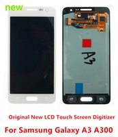 Wholesale Original Lcd For Galaxy S3 - Top AAA Original New LCD Display Screen Digitizer Assembly Parts For Samsung Galaxy A3 A300 A300X free shipping