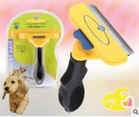 Wholesale Dropshipping Dog - Dropshipping Dog brush Grooming Yellow Long Hair Short Hair Expert deshedding Edge Designer