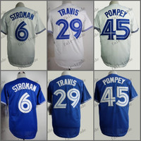 Wholesale Devon Travis - Toronto Blue #6 Marcus Stroman #29 devon travis 2015 Baseball Jersey Cheap Rugby Jerseys Authentic Stitched Free Shipping Size 48-56