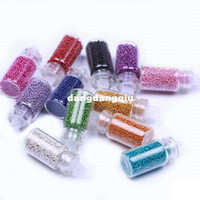 Wholesale Nail Caviar Bag - Wholesale-120bottles bag Bulk New Fashion Hot Fashion Ladys Caviar Nails Art 12 Colors   Box Manicures Pedicures Nail Art Free Shipping