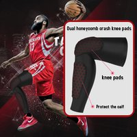 Wholesale Knee Protections - Basketball Supporter Sports Fitness Protection Knee pads Support Dual Knee Support Protection Leg Leggings Soccer Crash Free Shipping