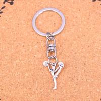 Wholesale Dance Key Chains - New Arrival Novelty Souvenir Metal cheerleaders cheering dance Key Chains Creative Gifts Apple Keychain Key Ring Trinket Car Key Ring