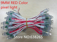 Wholesale Dc5v 9mm Led - Wholesale-LED Advertising Letter Chain Lamp   LED Pixel lamp module, Single Color, Diameter 9mm, DIP LED, Waterproof, DC5V, 200pcs lot