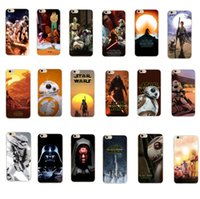 Wholesale Iphone Cases Character - For iphone 7 case Star Wars 7 The Force Awakens character cases star war Darth vader BB-8 stormtrooper TPU cover for iphone 5 5s 6 6s plus