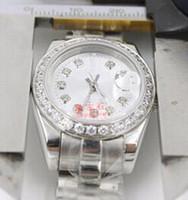 mira el precio de las chicas al por mayor-Las mejores marcas de lujo Presidente Fecha de diamante Relojes de acero inoxidable Precio más bajo para mujer Señoras Reloj automático mecánico Mujer Lady Girls