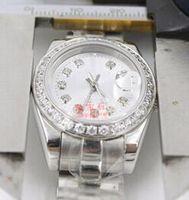 meninas relógios data venda por atacado-Top marcas de luxo Presidente Diamante Data Mulheres Relógios Inoxidável Menor Preço Das Senhoras Das Mulheres Relógio de Pulso Mecânico Automático Mulher Senhora Meninas