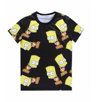 Wholesale Simpson Flash - 2015 Fashion Europe and America Hot Simpson cartoon 3d two sides Printed t shirt Men Women's short sleeve o neck casual t-shirt