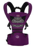 correas para asientos infantiles al por mayor-Envío gratis Baby Wrap Carriers Newborn Carrier Mochila Slings Toddler Tirantes Asiento Niños Cintura Taburete Correas Mochila infantil