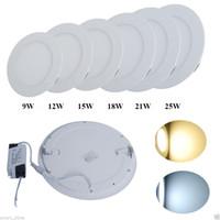 conduit les lumières 3w dimmable achat en gros de-Lumières ultra-minces de panneau de Dimmable 9W 12W 15W 18W 23W LED