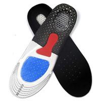 plantilla de relleno para zapatos al por mayor-Nuevos hombres Gel Orthotic Sport Running plantillas insertar almohadilla de zapato Arch Support Cojín para mujeres fútbol desodorización suave plantilla SZ16-I01