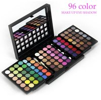 Wholesale Eye Shadow Palette 96 - 100% Brand New 96 Color Makeup Eyeshadow Palette Professional Make up Eye Shadow Cosmetic Set make-up Eyeshadows With Mirror Free DHL