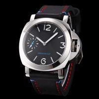 amerika sehen großhandel-Top-Qualität Factory Supplier Luxus-Uhren Edelstahl schwarz Zifferblatt America Pam00724 Pam724 Handaufzug Herrenuhren