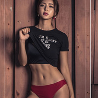 Wholesale Girls Uv Suit - 2018 newest design girls three pieces anti-uv short sleeve rash guard Korean sexy beachwear bikini high waist bathing suit beachwear