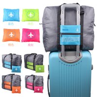 Wholesale Plain Trolley - Big Capacity Travel Stuff Sacks Brand New Nylon Folding Bag Waterproof Flight Trolley Bag Stuff Packs