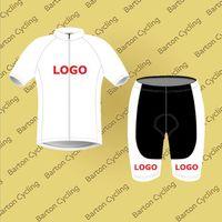 Wholesale Short Bike Design - Cycling Cycling Sets Custom Design Made Summer Short Sleeve Jersey Bike Racing Team Road Biker Cycling Sports Padded Suit Set S002
