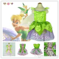 Wholesale Tinkerbell Mascot - Retail Fashion Girls TinkerBell Fairy Girl Mascot Costume tinker bell Dress Fairytale Tinker Bell Princess dress Costume Cosplay Show GD04