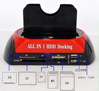 "Wholesale Hard Drive Docking Stations - All In 1 2.5"" 3.5""IDE SATA HDD Hard Drive Disk Clone Holder Dock Docking Station SD & HUB External Storage"