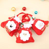 подарочные пакеты оптовых-Горячие Рождественские Сумки Дед Мороз Подарочные пакеты Рождественский мешок конфет Подарочная упаковка Массовый набор разноцветных цветных сумок-гуди Мешки IB507