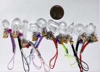Wholesale Fancy Glass Bottles - lot of 10pcs lot of 10 pcs Mini Small Fancy Glass empty Bottle Wishing Corks Handwork Necklace Pendant Cell Accessories