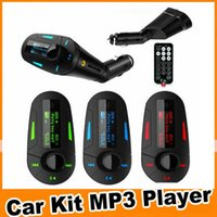 Car Styling Mp3 Player de áudio do carro Car Kit MP3 MMC Mucsic Jogador sem fio Transmissor FM Radio modulador USB SD + Remote Control OM-CG3