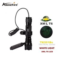 Wholesale Tactical Flashlight Remote Pressure Switch - 501B XML-T6 ED tactical Flashlight Torch 1 Mode or 5 mode Flash Light Lanterna lampe torche + Remote Pressure Switch & Gun Mount scope mount