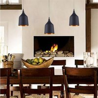 Wholesale Led Dining Table Lights - New arrivel Indoor Pendent Light Tom Dixon Winebowl Pendant Lamp Dining-room Lamp Table Lamp White Black Color Light E27 Bulb Light Lamps