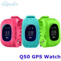 Wholesale Gps Gsm Gprs Watch - Smart watch Children Kid Wristwatch Q50 GSM GPRS GPS Locator Tracker Anti-Lost Smartwatch Child Guard for iOS Android