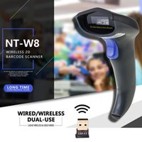 All'ingrosso 2017 Nuovo arrivo Wireless Barcode Scanner Codice lettore 2.4G 2D Laser Barcode Scanner Wireless / Wired per Windows / Mac NT-W8