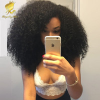 Wholesale Indian Curly Hair For Sell - Hot selling U part wig Brazilian Human hair Afro kinky curly Bob Short lace front Human hair wigs for african americans