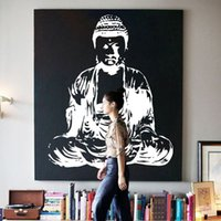 Wholesale Wall Stickers Yoga - Art new Design Indian Buddha religion Wall Decal removable Vinyl Sticker home decor Mural room decoration God Asian yoga namaste