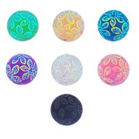 Wholesale Charm Bracelets Cameos - Wholesale-Snaps Jewelry 10PCs Flower Cameo Multicolor Mixed Ginger Snap Buttons For Snap Button Jewellery 18mm K85561