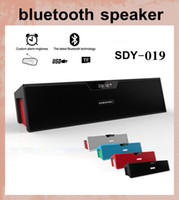 SDY-019 HIFI Portable Bluetooth Speaker 10W FM wireless radio sveglia amplificatore stereo del USB Sound Box con il mic libera il trasporto DHL MIS065