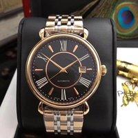 Wholesale hour vision - DE VILLE hour vision diamond men's Sapphire mirror coaxial 43mm men's top quality automatic mechanical watch.