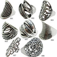 Wholesale 925 Sterling Silver Cable - 2015 Selling 925 Sterling Silver Multi Styles Antique Silver Ring Rope Cable Wire Rings Zinc Alloy Jewelry Vintage Rings For Women