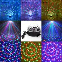 sesli etkinleştirilen lazer parti ışıkları toptan satış-Lazer sahne ışık Oto Ses aktive DJ Kulübü Disko KTV Parti Bar RGB Kristal LED Top Projektör LED Sahne Işık dekor Aydınlatma