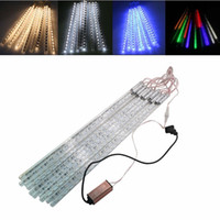 LED Christmas Xmas Lights 10pcs / set 30cm 50cm 80cm Tubo de nevasca Meteor Shower Rain Tube LED String Light Luzes de Natal ao ar livre
