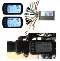 Wholesale Electric Conversion Bike - 24v36v48V250W350W BLDC motor speed controller & LCD display set FOR MTB Electric Bike Scooter LCD control panel conversion part