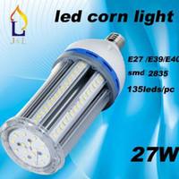Wholesale E27 17w - new design 17W 22W 27W 32W led corn light high brightness bulb SMD2835 corn LED Light E27 E40 E39 base 10pcs lot