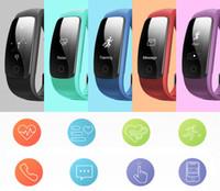 Wholesale Bluetooth Bracelet Display - new cheap ID107 Plus HR Smart Band Bluetooth 4.0 Answer Call Smart Bracelet Heart Rate Sleep Monitor multi sports 5 displays