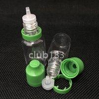 botellas de manipulación de 15 ml al por mayor-Envío gratis Botellas de plástico de Colorido aguja Botella 15 ml PET Botellas de Plástico Cuentagotas Tamper Niño A Prueba de Golpes Cápsulas Para E Vapor Cig Líquido