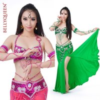 Wholesale Womens Dance Suits - 802# Womens Dancewear 3PC Belly Dance Costume Hip Scarf Top Bar 34B C Skirt For adult edge Performance Spiral Tribal Suits