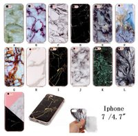 Wholesale Marble Edge - Marble Stone image Painted Silicone TPU Soft Back Phone Cover Case for Iphone 6 6s plus 7 7plus 8 8plus Samsung S6 S6 edge S7 S8 S8 plus