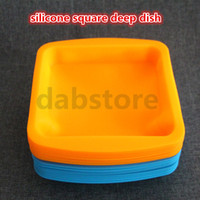 Wholesale Shatter Bho - 8*8inch Silicone Mats Wax Jars Slick Pads NonStick Shatter Proof Dabber Tools Dab BHO Butane Honey Oil Vacuum Chamber Degassing Wax Dishes