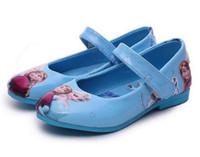Wholesale Girls Shoes Kid S - 2016 fashion Kids Children girl 's Snow queen Elsa Anna girls princess south shoes single Sandals fashion dance shoes EU26-36 Roman shoes