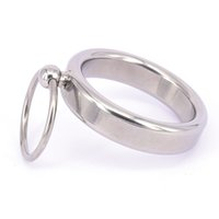 Wholesale Metal Cockrings - Stainless Steel Metal Male Chastity Device Cock Penis Ring Cockrings Restraints Rings Bondage Gear For Men BDSM Sex Toys