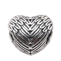 Wholesale 925 Ale Jewelry - Jewelry Finding New Beads fit for Pandora Charms 925 Ale Wings Empty Beads be Use As Pandora Beads for Silver Charms Jewelry Making PS0014-1