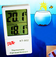 Wholesale Water Tank Digital Thermometer - High quality Digital LCD Inside and outside Temperature Fish Aquarium Tank Water Thermometer Aquarium Thermometer Power Sucker