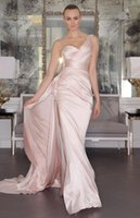 Vestiti rosa splendida da promenade abiti da sera indietro Backless Tony Ward 2016 abito da sposa Occasione One-Shoulder Celebrità su misura