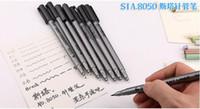Wholesale Maker Hooks - NEW STA 8050 Painting designs Pens waterproof colorfast black hook line maker pen soft tip brush pen Drawing sketch Needle pen 0.05mm-0.8mm